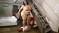 Body Trampling SSBBW Slave Guy Crushed
