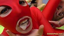 wild german spandex catsuit gangbang orgy - Download mp4 XXX porn videos