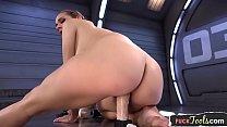 Anally drilled babe pleasured by huge dildo Vorschaubild