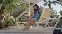 Russian MILF model Noemi Moon gives a hot striptease thumbnail