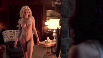 Naked lesbian 3-some in a dream, but 2 of the girls are demons.  Angel McCord shows us her shaved pussy, .Heather Roop, & Cora Benesh get naked.  The Sacred (2012)