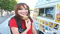 Beaue Marie Gets A Messy Pussy Creampie In The Back Of An Ice Cream Truck