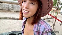 Redhead Teen Fucking On The Country Outdoor Pov
