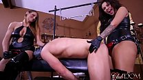 Jaime And Paris Strap On Goddesses/foot Slave