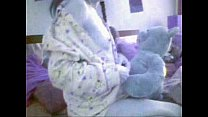 Teddy Bear and Girl white panties - Nounours et...
