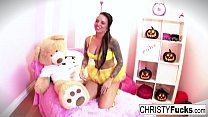 Christy Mack dresses up for Halloween then plays with herself - 9Club.Top