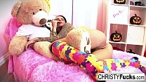 Christy Mack dresses up for Halloween then play...