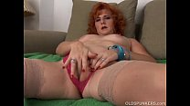 Sexy old spunker is a squirter when she masturbates preview image