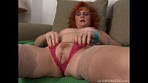 Sexy old spunker is a squirter when she masturb... Thumbnail