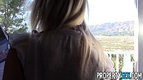 PropertySex - Housewarming gift deepthroat and sex from hot real estate agent