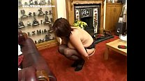 Hard spanking punishment for fat milf with big tits preview image