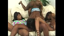 Black bitches fucking with toys in lesbian orgy