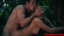 Roughfucked teen babe pounded by stalker