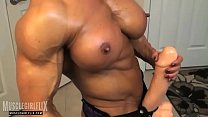 Holy Fuck Female Bodybuilder Massive Futanari Cock