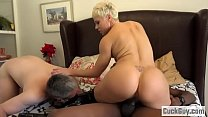 Helena Locke turns her husband into cum eating cuckold