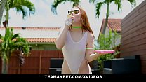 GingerPatch - Tiny Ginger Teen Gives Hot Blowjob To Big Dick