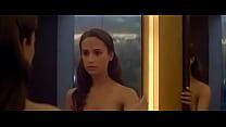 Alicia Vikander nude scenes in Ex Machina (2015)