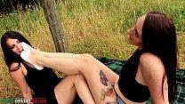 Educating Aline - Lesbians Foot Licking Domination Outdoor thumbnail