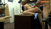 Small tits babe banged by nasty pawn guy