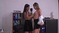 Schoolgirls share the principal's dick - Tiffany Tatum and Angela Allison