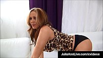 Mega Hot Milf Julia Ann Slobbers On, Sucks & Mi...