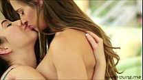 College teen lovers Cassidy Klein and Aria Alex...