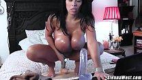Huge Titty Milf Sienna West Rides Big Dildo For