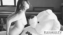 Sexy 18yo Costa Rica girl first time sex with teddy bear. full orgasm and squirting. preview image