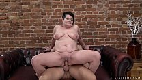 Pierced granny pussy filled with younger dick pornhub video