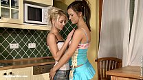 Kitchen Seduction - by Sapphic Erotica lesbian sex with Viktoria Anneli