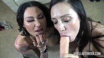 Ariella Ferrera and Jenevieve Hexxx share a dildo thumbnail