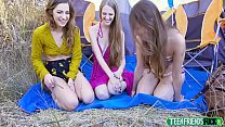Izzy Lush, Samantha Hayes, Avery Moon In Hiking...'s Thumb