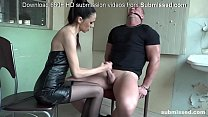 Bound man submissed by European domina! Great Femdom!