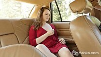 Sweet Endza Masturbates Her Cunt On Backseat