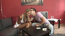 She cheats on her BF with brother - Download mp4 XXX porn videos