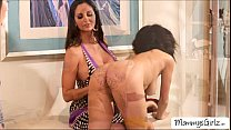 Gorgeous horny ladies in hot threesome lesbian pussy play Preview