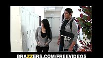 Bad chick Tiffany T fucks the school janitor in front of her man pornhub video