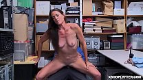 Shoplyfter bouncing off her pussy on top of the...