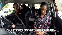 Lesbian student got oral in driving school car's Thumb