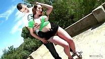 Horny Spanish Guy Stretches Both Her Holes Usin...