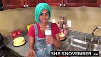 6589 Ebony Step Sister Msnovember Is Fucked In Kitchen Hardcore Bro Sex & Blowjob POV preview