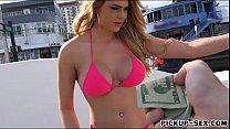 Eurobabe Skyla Novea pounded for cash