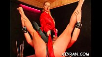 Breathtaking babe gets tied up and gagged by nasty domina
