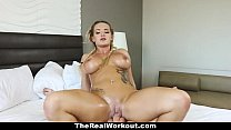 TheRealWorkout - Busty Blonde Rides Trainer After The Beach Session thumbnail