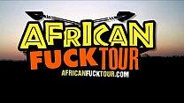 African black babe fulfills her interracial fantasies