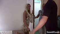 GERMAN TEEN SEXY CORA in 3SOME ANAL FUCK with two USER
