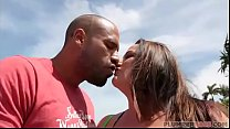 Sexy Busty MILF Jessica Lust Meets Latino Stud on South Beach