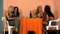 Shemale foursome after get together