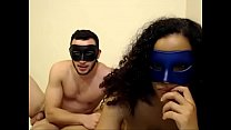 19950 masked ebony teen sucking bfs white cock preview
