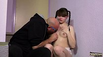 10943 This teen with hairy pussy gets super fucked by a creepy old man preview